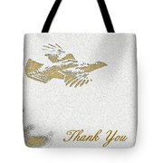 Flying Ruffed Grouse Thank You Tote Bag