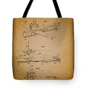Flying Submarine Patent Tote Bag