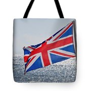 Flying The British Flag Tote Bag