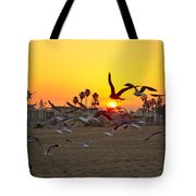 Flying To The Rising Sun Tote Bag