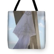 Flying Wedding Dress 2 Tote Bag