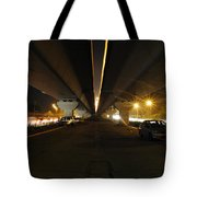 Flyover And A Car Tote Bag