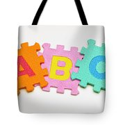 Foam Alphabet Shapes Tote Bag
