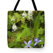 Foamflower And Crested Dwarf Iris - D008428 Tote Bag