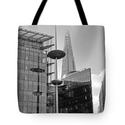 Focus On The Shard London In Black And White Tote Bag