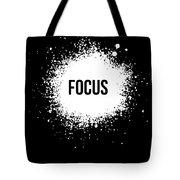 Focus Poster Black Tote Bag