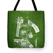 Foehl Revolver Patent Drawing From 1894 - Green Tote Bag