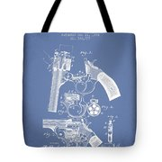 Foehl Revolver Patent Drawing From 1894 - Light Blue Tote Bag