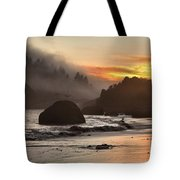 Fog And Fire Tote Bag by Adam Jewell