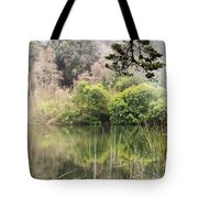 Fog And Reeds Tote Bag