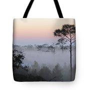 Fog At Dawn Tote Bag