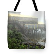 Fog At The Restaurant Tote Bag