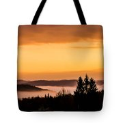 Fog Below Tote Bag