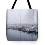 Fog In Marina I Tote Bag