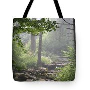 Fog In The Wilderness Tote Bag