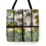 Fog Ivy And Plate Glass Tote Bag