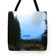 Fog Mountain Tote Bag