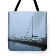 Fog On The Marina - Jersey Shore Tote Bag