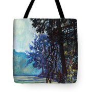 Fog On The New River Tote Bag