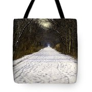 Fog On The Winter Macomb Orchard Trail Tote Bag