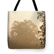 Fog Over Countryside Tote Bag