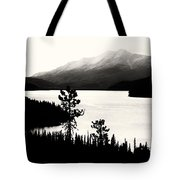 Fog Over The Mountain Tote Bag