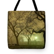Foggy Approach To The Lincoln Memorial Tote Bag