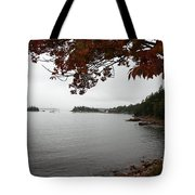 Foggy Autumn Day Tote Bag