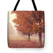 Foggy Autumn Morning Etna New Hampshire Tote Bag