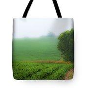 Foggy Bean Field Tote Bag