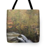 Foggy Brandywine Falls Tote Bag