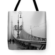 Foggy Day In Budapest Tote Bag