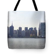 Foggy Day On The East River Tote Bag