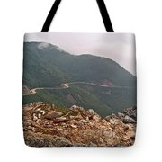 Foggy Day Road Through Cape Breton Highlands Np-ns Tote Bag