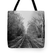 Foggy Ending In Black And White Tote Bag