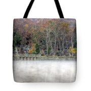 Foggy Fall On Maryland Towpath Tote Bag