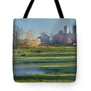 Foggy Farm Morning Tote Bag