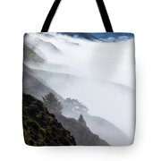 Foggy Hillside Tote Bag