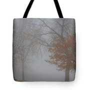 Foggy Lake View Tote Bag
