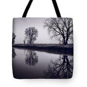 Foggy Morn Bw Tote Bag
