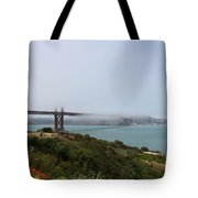 Foggy Morning At The Bay Tote Bag