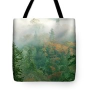 Foggy Morning In Humbolt County California Tote Bag