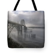 Foggy Morning In Newport Tote Bag