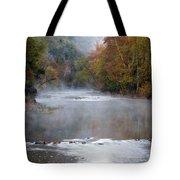 Foggy Morning On The Buffalo Tote Bag