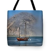 Foggy Morrow Bay Tote Bag