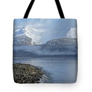 Foggy Mountain Beyond Tote Bag