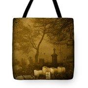 Foggy Necropolis Tote Bag