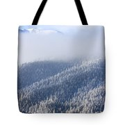Foggy Peak Tote Bag
