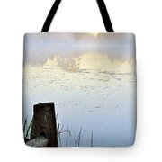 Foggy Pond Tote Bag
