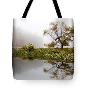 Foggy Reflections Landscape Tote Bag